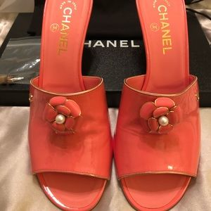 Chanel - Pink Patent Mule